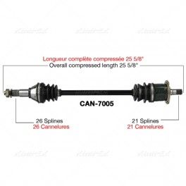 Can-Am Commander Front Left Axle