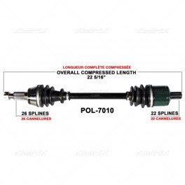 Polaris RZR 570 & 800 Front Axle