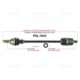 Polaris RZR 800 S Front Axle