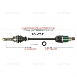 Polaris RZR 800 S Rear Axle
