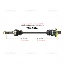 Yamaha Rhino Rear Right Axle
